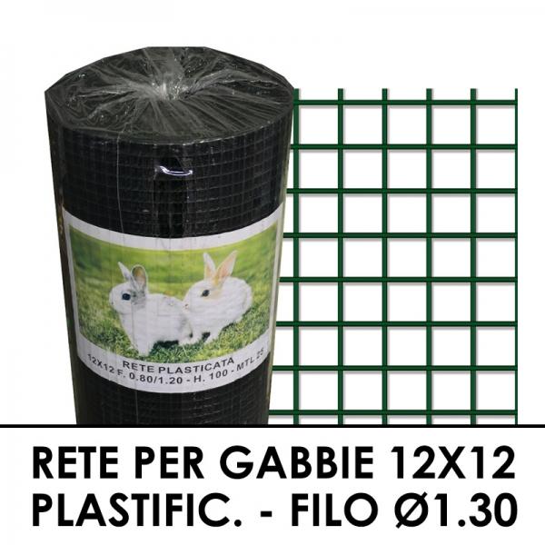 Rete Plastica Da Balcone.Rete Per Gabbie Plastificata 12x12