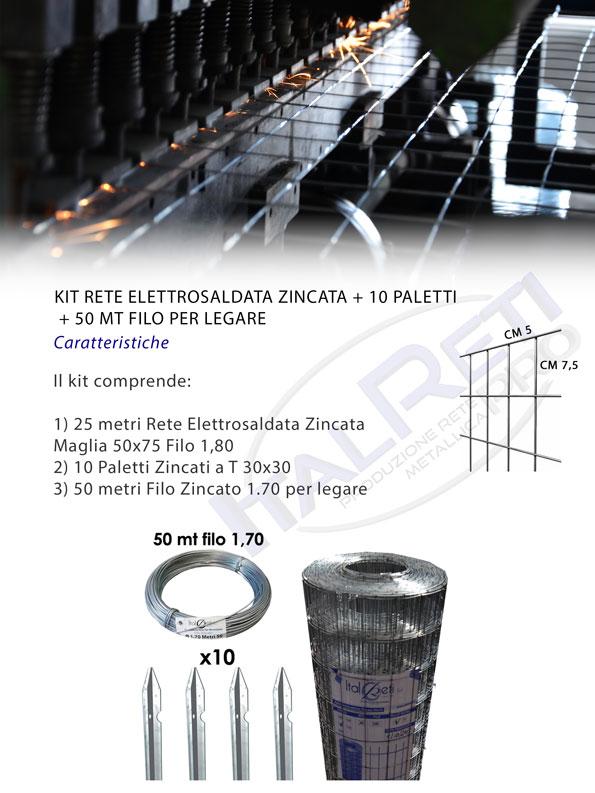 Kit Elettrosaldata Zincata e Paletti