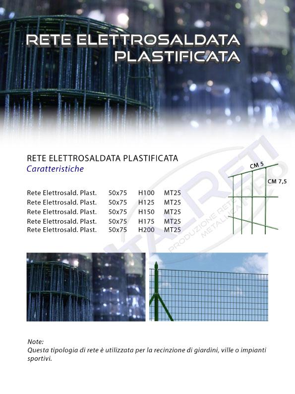 Rete Elettrosaldata Plastificata